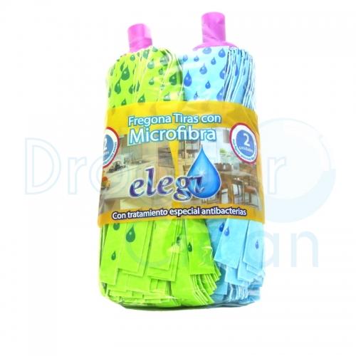ELEGI FREGONA TIRAS MICROFIBRA AZUL/VERDE 2 UDS