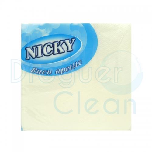 Nicky Servilletas Buen Apetito Blanca 70 Uds