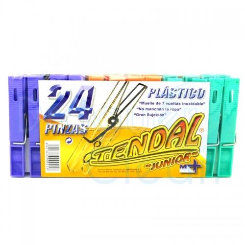 PINZA ROPA PLASTICO 24 UDS