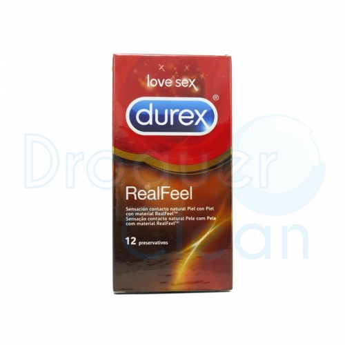 DUREX REAL FEEL PRESERVATIVOS 12 UDS