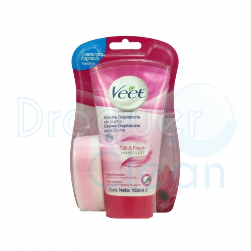 VEET CREMA DEPILATORIA DUCHA SILK & FRESH PIEL NORMAL 150 ML