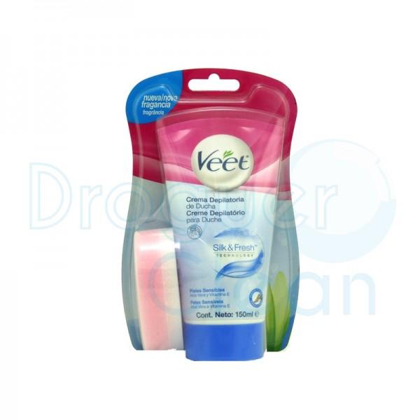 Veet Crema Depilatoria Ducha Silk & Fresh Piel Sensible 150 Ml