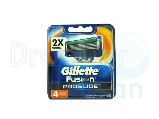 Gillette Fusión Proglide Manual Cargador 4 Uds