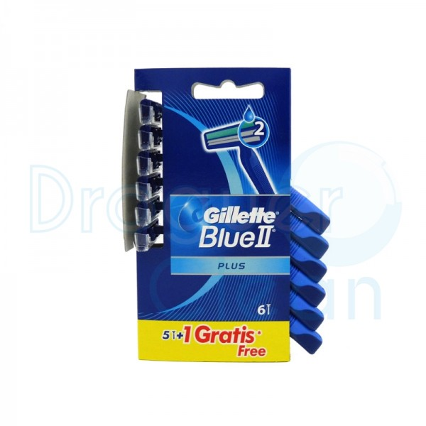 Gillette Blue Ii Plus Maquinilla Desechable 5 Uds + 1