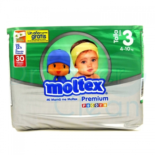 MOLTEX PREMIUM TALLA 3, 4/10 KG 30 SERVICIOS