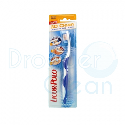 Licor Del Polo 3D Clean Cepillo Dental 1Uds