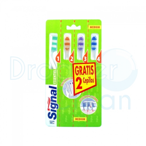 SIGNAL CEPILLO DENTAL ESENTIEL PACK 4 UDS