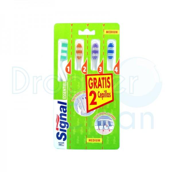 Signal Cepillo Dental Esentiel Pack 4 Uds