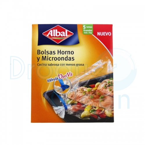ALBAL BOLSA HORNO Y MICROONDAS 5 UDS