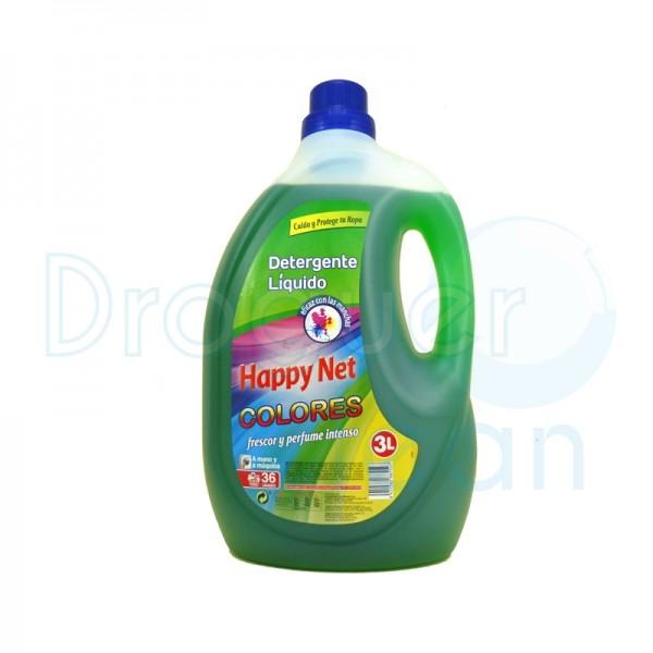 Happy Net Detergente Líquido Color 3 L