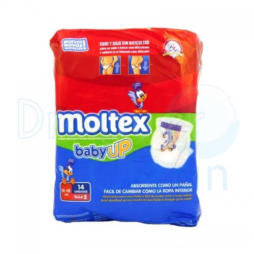 Moltex Pañal Baby-Up Talla 5 12-18 Kg 14 Servicios