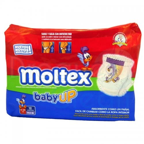 MOLTEX BABY-UP TALLA 6 17-28 KG 12 SERVICIOS