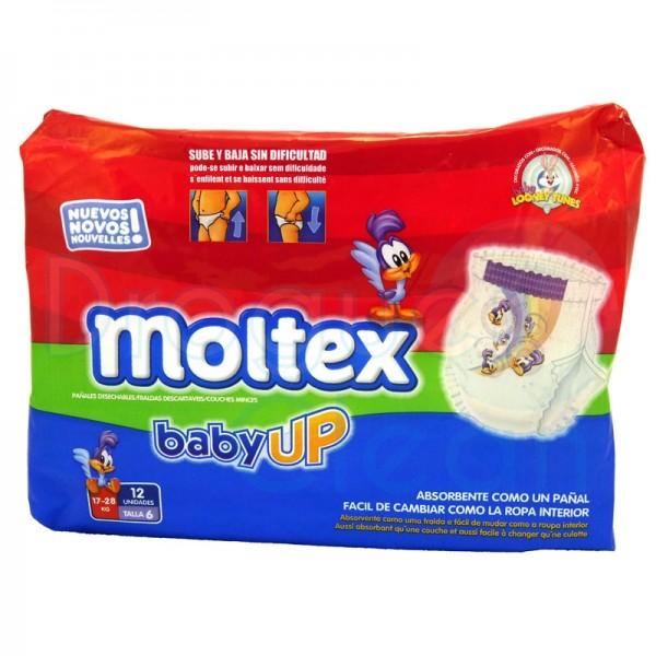 Moltex Pañal Baby-Up Talla 6 17-28 Kg 12 Servicios