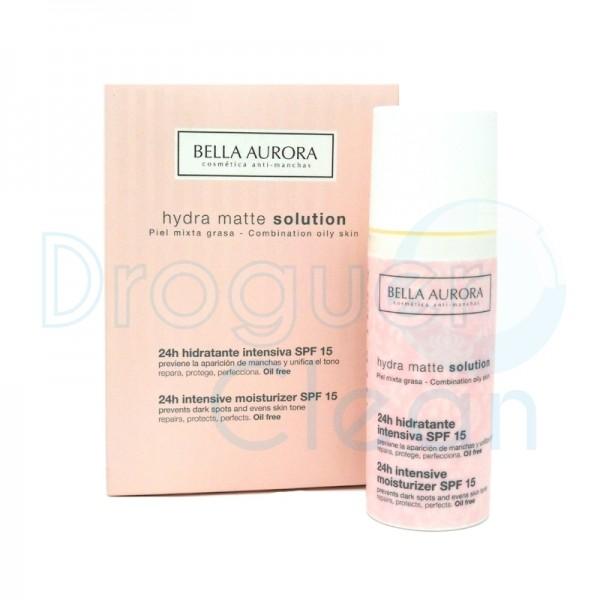 Bella Aurora Hydra Matte Solution Crema Hidratante Piel Mixta Grasa Spf 15 50 Ml