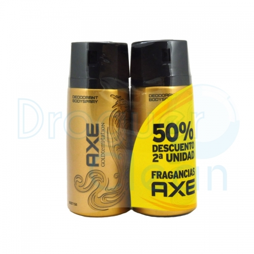 AXE DESODORANTE GOLD SPRAY 150 ML DUPLO