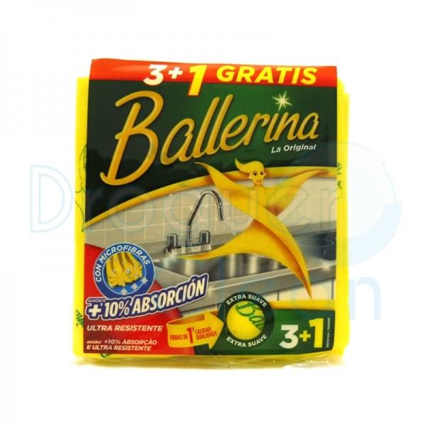 Ballerina Bayeta Amarilla Pack 3+1