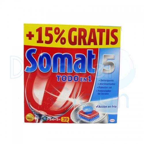 SOMAT-5 TODO EN 1 MAQUINA 39 PASTILLAS