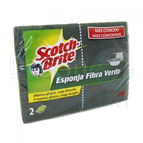 SCOTCH-BRITE ESPONJA FIBRA VERDE DUPLO