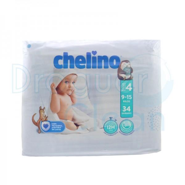 Chelino Pañal Talla 4 (9-15 Kg) 34 Servicios