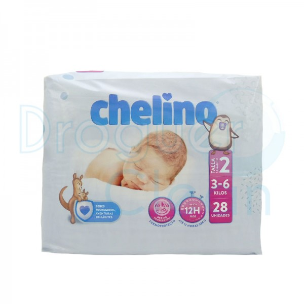 Chelino Pañal Talla 2 (3-6 Kg) 28 Servicios