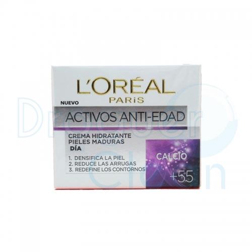 LOREAL ACTIVOS ANTI-EDAD +55 AÑOS CREMA HIDRATANTE 50 ML
