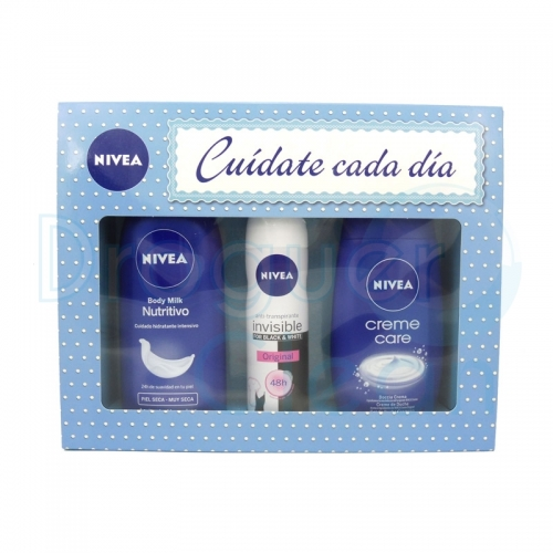 Nivea Estuche Body Milk 400 Ml + Desodorante 150 Ml + Gel Ducha 250 Ml