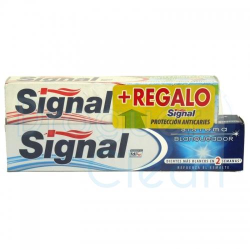 Signal Sistema Blanqueador Pasta De Dientes 100 Ml + 75 Ml Dentifrico Familiar