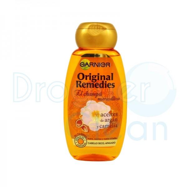 Garnier Original Remedies Maravilloso Aceite Argan Y Camelia Champu 250 Ml