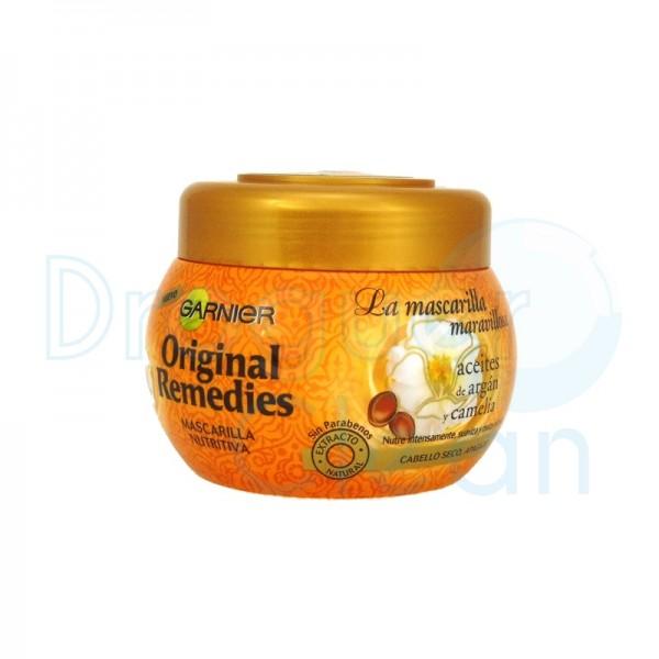 Garnier Original Remedies Mascarilla Maravillosa Aceite Argan Y Camelia 300 Ml