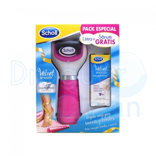 SCHOLL VELVET SMOOTH LIMA ELECTRONICA PIES + SERUM INTENSO 30 ML