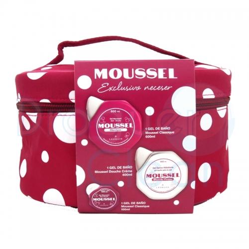 Moussel Neceser Gel Baño Clasico 600 Ml + Petaca 100 Ml + Gel Baño Creme 600 Ml