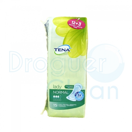 TENA LADY COMPRESAS NORMAL 12 + 3 SERVICIOS