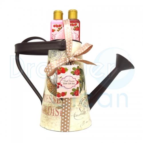 Regadera Metal Decorativa Gel De Ducha, Body Milk Y Pastilla Especial Burbujas