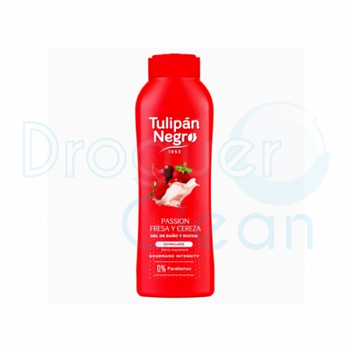 Tulipán Negro Gel De Baño Passion Fresa Y Cereza 720 Ml