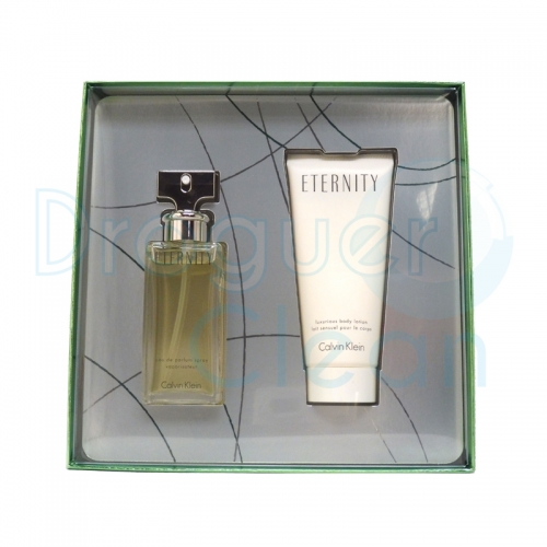 CALVIN KLEIN ETERNITY EAU DE TOILETTE MUJER 50 ML + BODY MILK