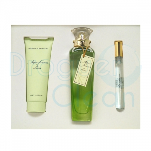 ADOLFO DOMINGUEZ AGUA FRESCA AZAHAR EAU DE TOILETTE MUJER 120 ML+BODY MILK 75 ML