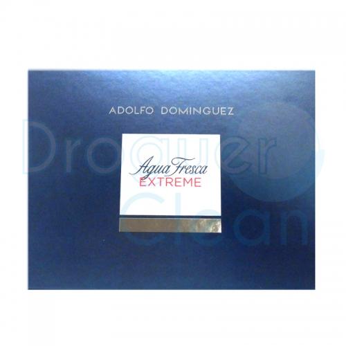 ADOLFO DOMINGUEZ EXTREM EAU DE TOILETTE HOMBRE 120 ML + GEL 100 ML +AFTER 100 ML