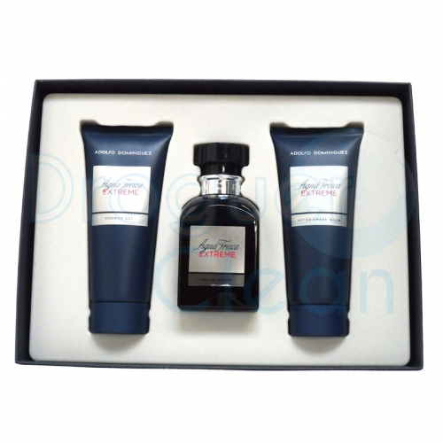 ADOLFO DOMINGUEZ EXTREM EAU DE TOILETTE HOMBRE 120 ML + GEL 100 ML +AFTER 100 ML