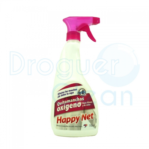 Happy Net Quitamanchas Oxígeno Pistola 750 Ml