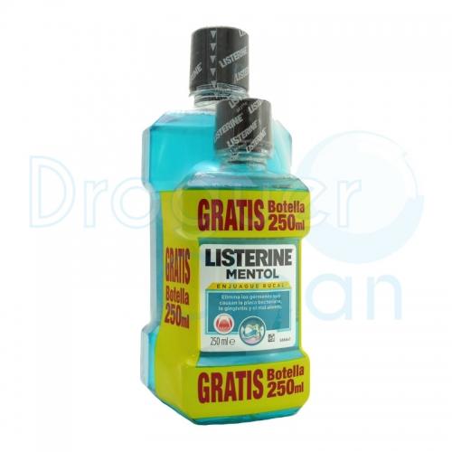 Listerine Mentol 500 Ml + 250 Ml Gratis