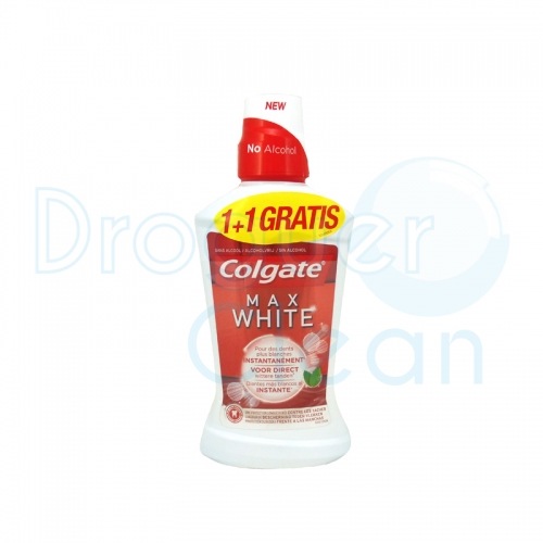 COLGATE MAX WHITE SIN ALCOHOL 500 ML + 500 ML