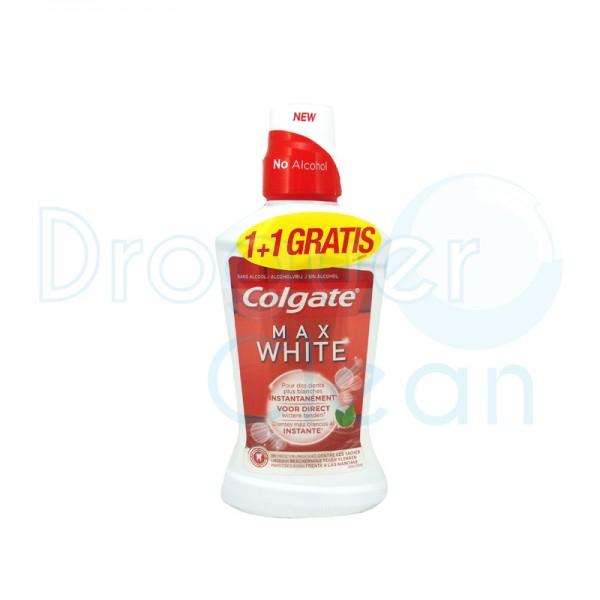 Colgate Max White Sin Alcohol 500 Ml + 500 Ml