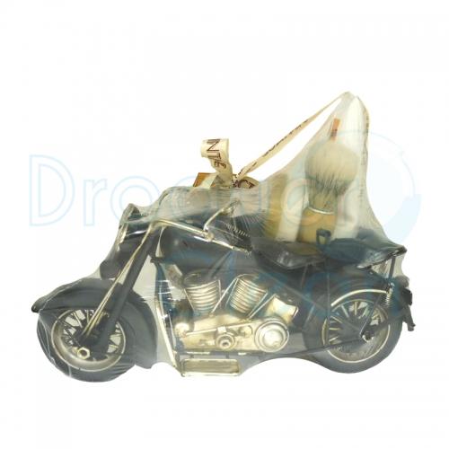 Moto Sidecar Vintage Decorativo Brocha De Afeitar, Jabón y After Shave