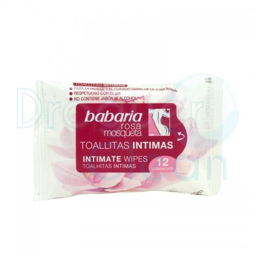 Babaria Toallitas Intimas Rosa Mosqueta 12 Servicios