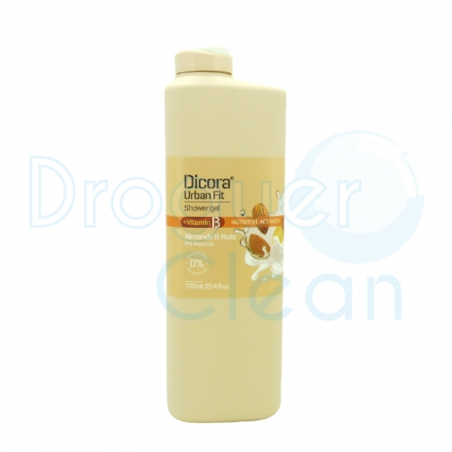 Dicora Gel De Baño Almendras & Nueces Vitamina B 750 Ml