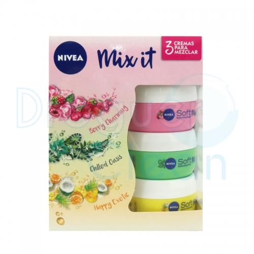 Nivea Soft Mix It Crema Hidratante Frutas Del Bosque, Esencia Botáncia y Cítrica