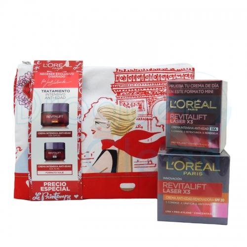 Loreal Neceser Revitalift Laser X3 Crema Anti-Edad SPF20 50 Ml + 15 Ml