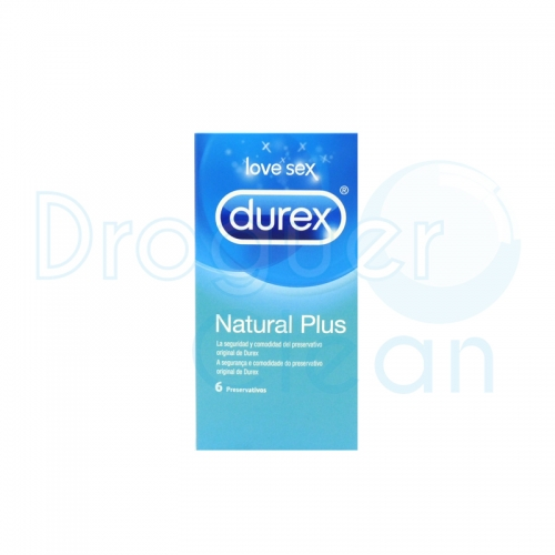 Durex Natural Plus Preservativos 6 Uds