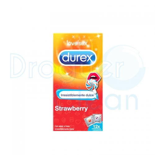 Durex Strawberry Emoji Preservativos 12 Uds