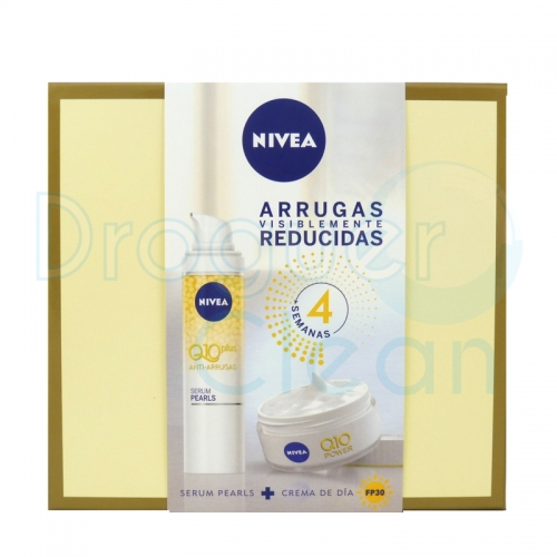 Nivea Estuche Q-10 Plus Crema Anti-Arrugas Spf30 50 Ml + Serum Perlas 30 Ml